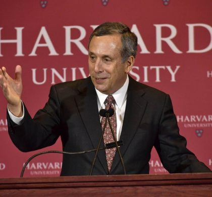 CAMBRIDGE, MA - FEBRUARY 11: Lawrence Seldon Bacow speaks as he is introduced as Harvard University's 29th president during a news conference on February 11, 2018 in Cambridge, Massachusetts. The University's current president Drew Gilpin Faust will step down from her post in June 2018. Paul Marotta/Getty Images/AFP == FOR NEWSPAPERS, INTERNET, TELCOS & TELEVISION USE ONLY ==