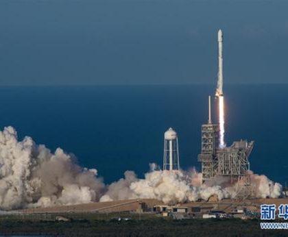"""(科技)美国利用""""二手""""猎鹰火箭发射10颗卫星"""