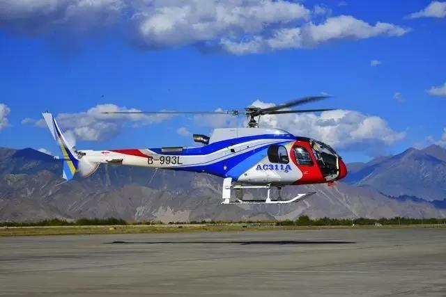 中国自主研制AC311A轻型直升机完成高原试飞